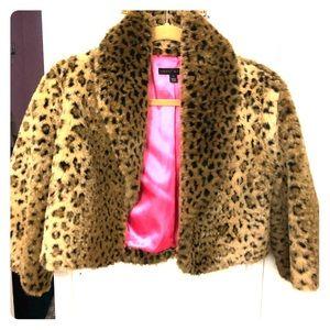 Sheri Bodell Leopard Shrug/Bolero